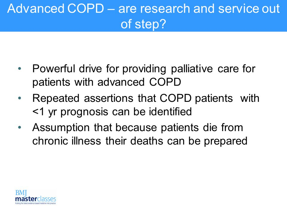 Can we make an accurate prognosis in COPD.