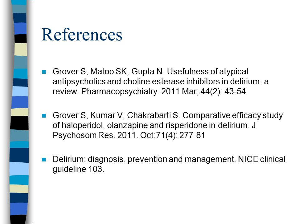 References Grover S, Matoo SK, Gupta N.