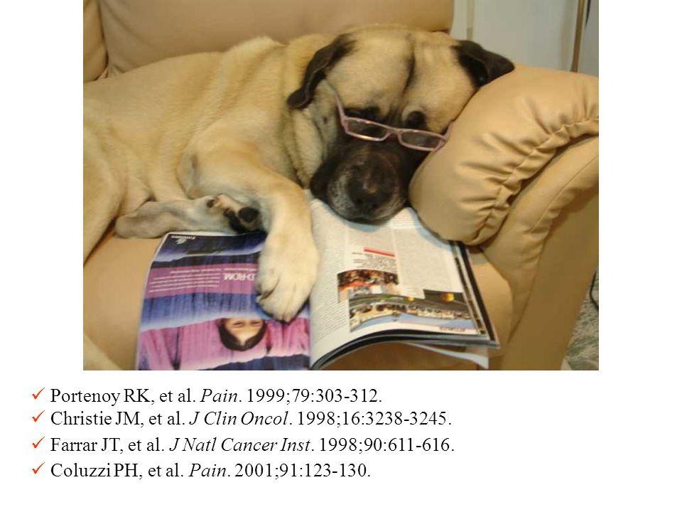 Portenoy RK, et al. Pain. 1999;79:303-312. Christie JM, et al. J Clin Oncol. 1998;16:3238-3245. Farrar JT, et al. J Natl Cancer Inst. 1998;90:611-616.