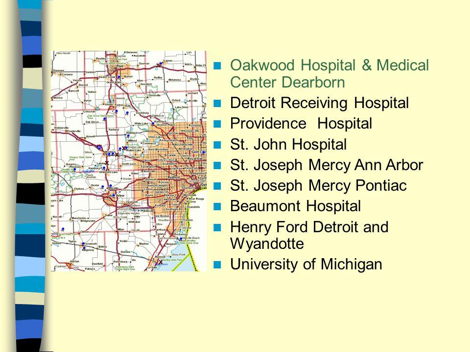 Oakwood Hospital & Medical Center Dearborn Detroit Receiving Hospital Providence Hospital St.