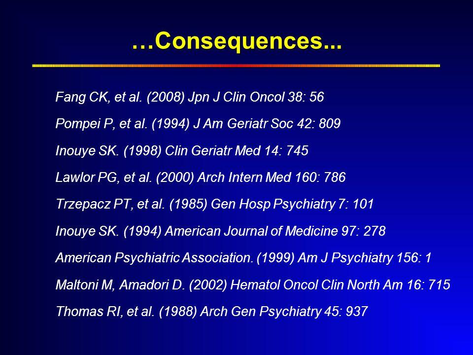 …Consequences... Fang CK, et al. (2008) Jpn J Clin Oncol 38: 56 Pompei P, et al.