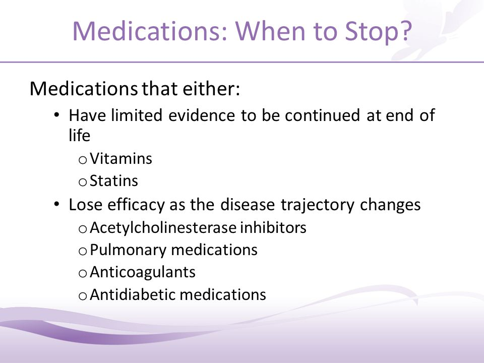 What Medications Could be Considered for Discontinuation?