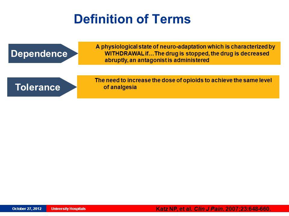 October 27, 2012University HospitalsOctober 27, 2012University Hospitals Definition of Terms Katz NP, et al.
