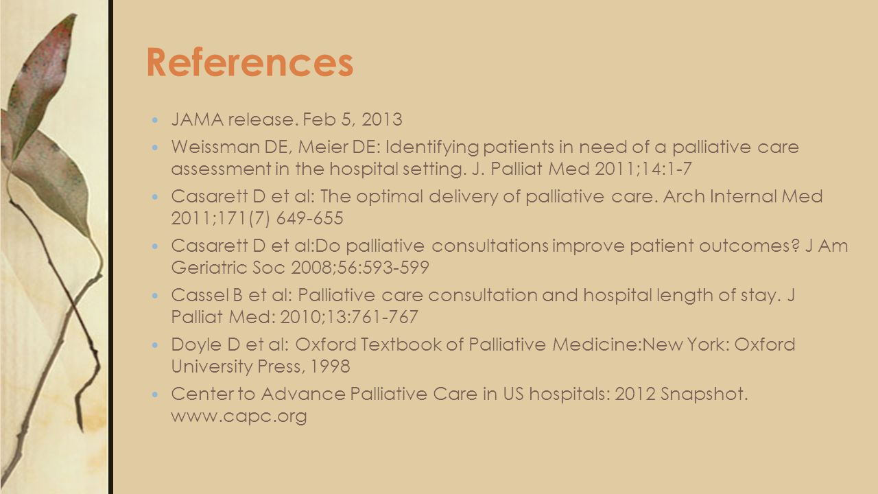 References JAMA release.