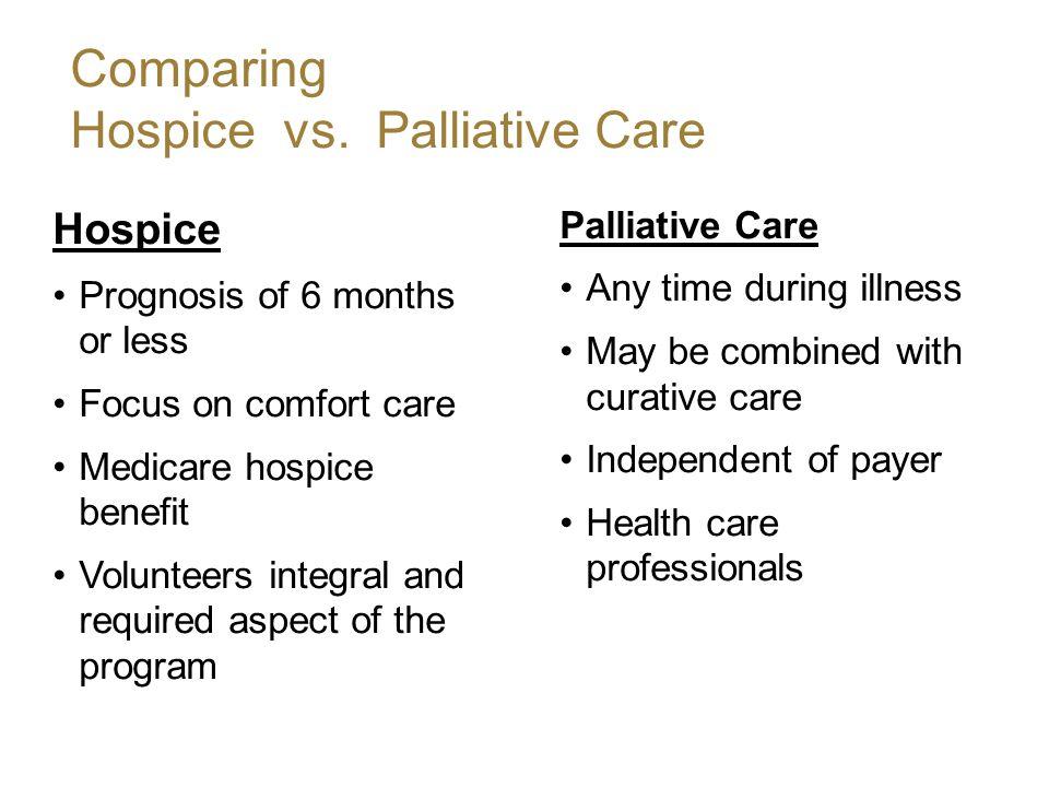 Comparing Hospice vs.