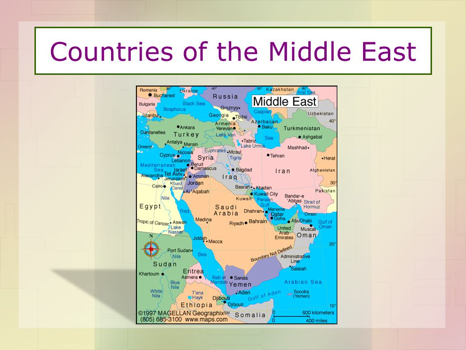 Countries of the Middle East