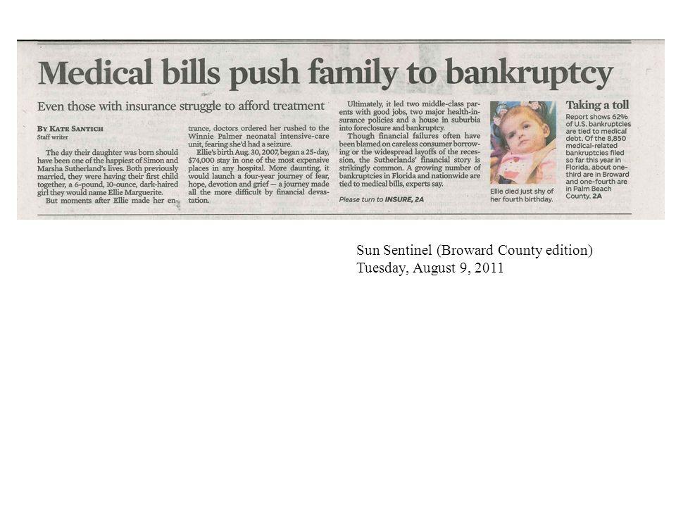 Sun Sentinel (Broward County edition) Tuesday, August 9, 2011