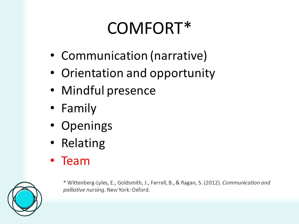 Objectives Describe the main principles of interdisciplinary team collaboration Recognize team meetings as a place to collaborate and resolve conflict Identify a communication skill to practice with interdisciplinary team members Identify a communication skill to practice to ensure effective team meetings