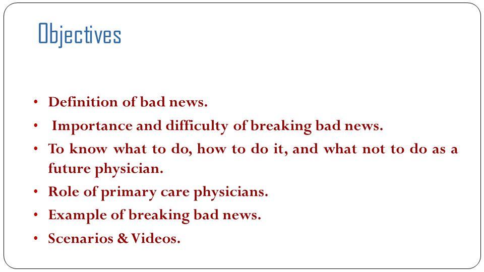 References:  BREAKS' Protocol for Breaking Bad News, Vijayakumar Narayanan, Bibek Bista, and Cheriyan Koshy, Indian J Palliat Care.