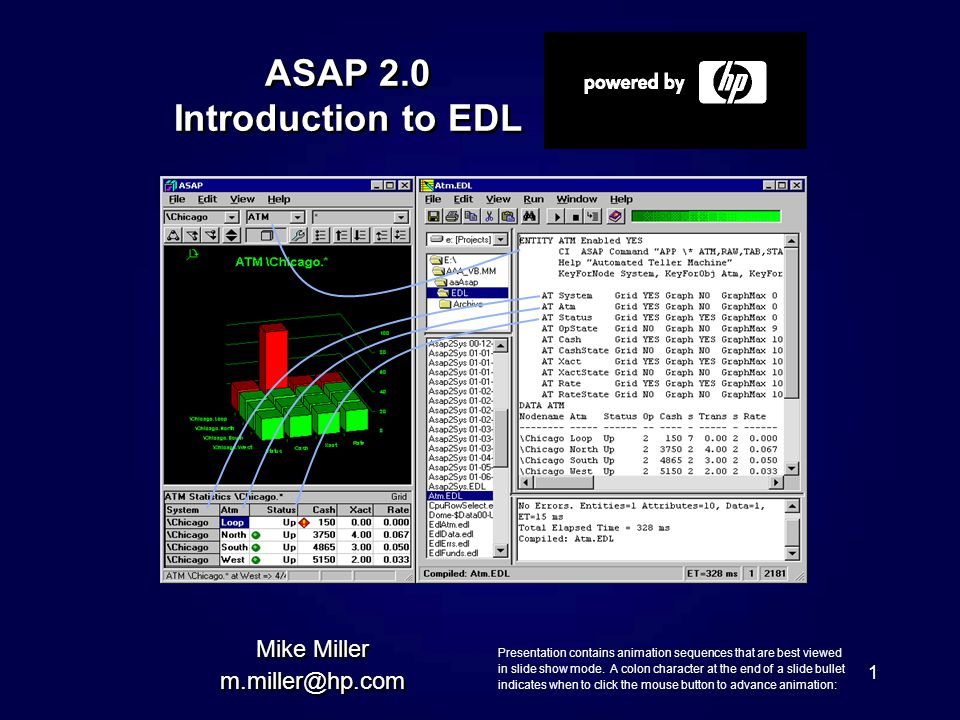 1 ASAP 2.0 Introduction to EDL Mike Miller m.miller@hp.com Mike Miller m.miller@hp.com Presentation contains animation sequences that are best viewed in slide show mode.