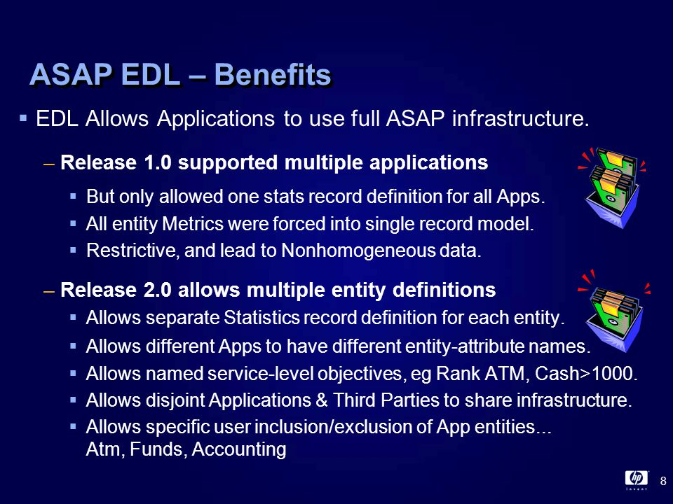 29 ASAP EDL – Export EDL - Options Dialog  Export EDL – Dialog defines what to export –System Entity Definitions  Cpu, Disk, Expand, File, Process, RDF, Spooler, System, Tape, TMF,...