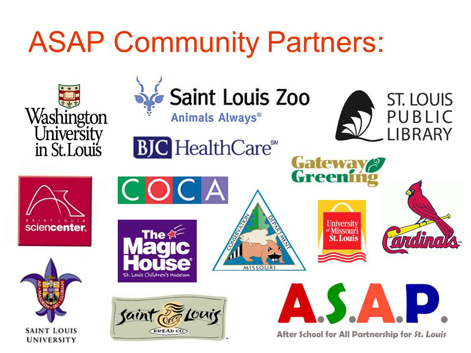 ASAP Community Partners:
