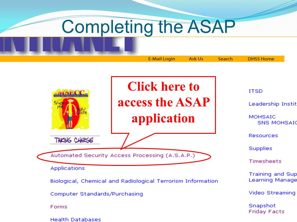 Click here to access the ASAP application