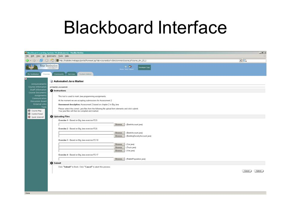 Blackboard Interface