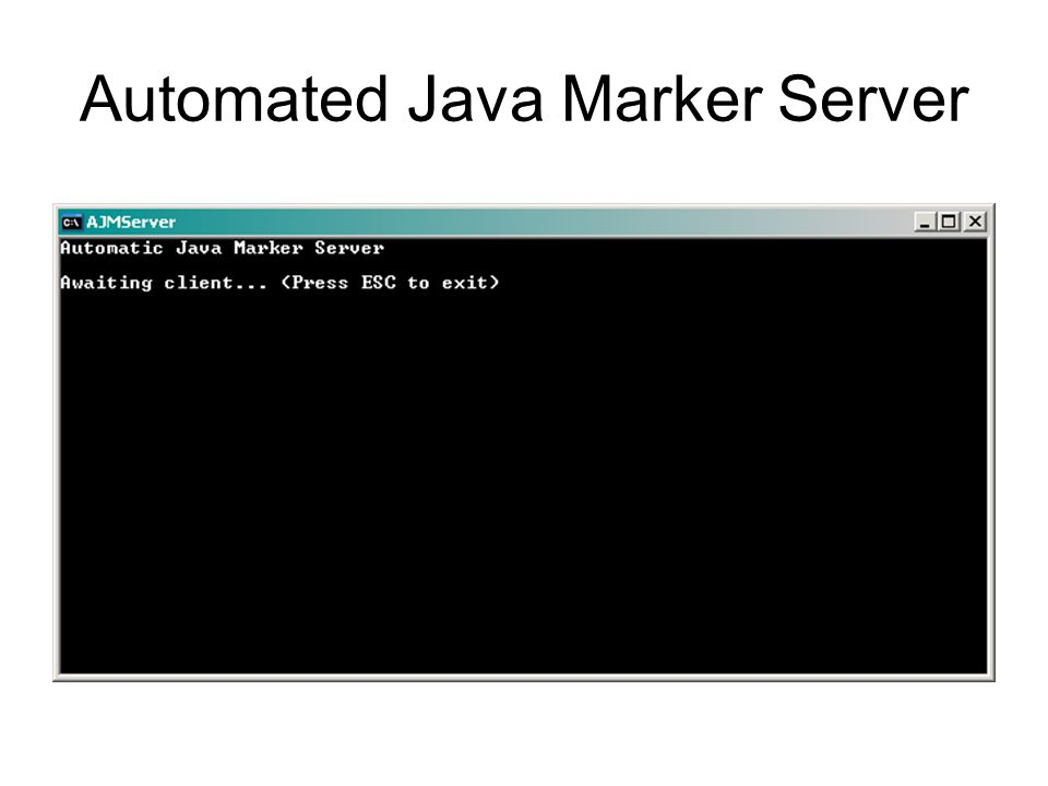 Automated Java Marker Server