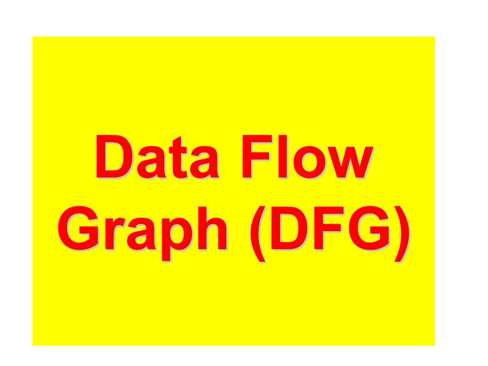 Data Flow Graph (DFG)