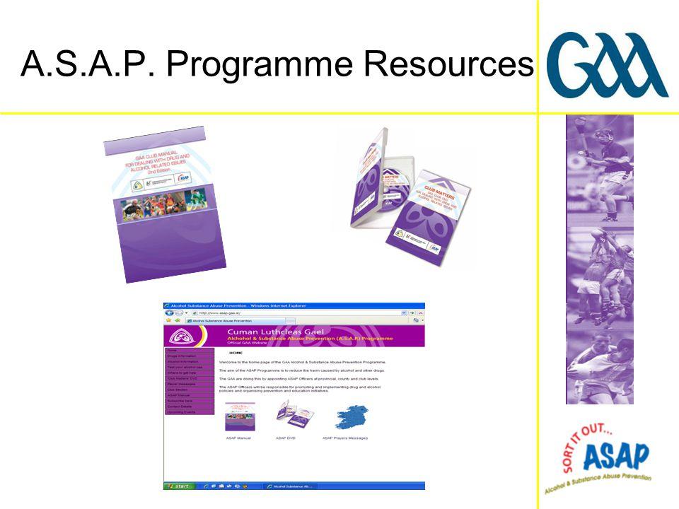 A.S.A.P. Programme Resources