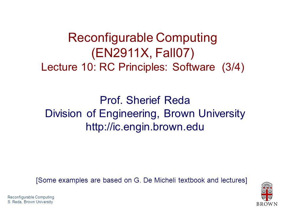 Reconfigurable Computing S.