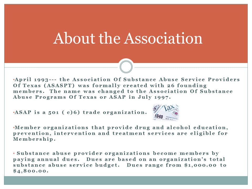 The activities of the Association are carried out in three primary areas: 1) Information Dissemination, 2) Education & Training, 3) Government Affairs & Public Policy.