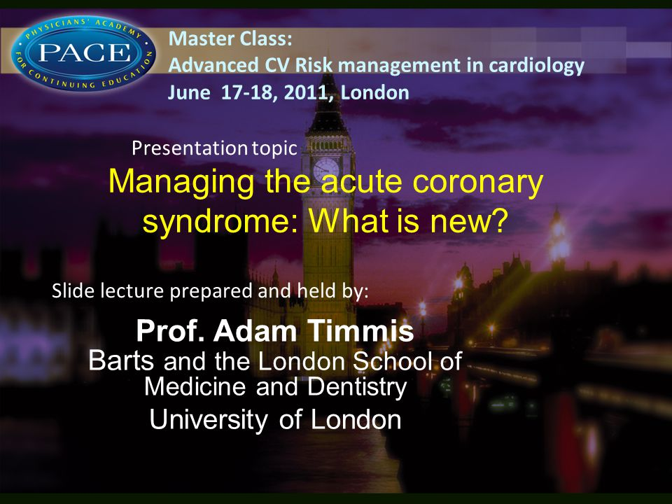 Managing the acute coronary syndrome: What is new.