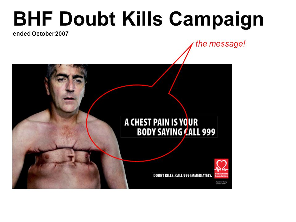 BHF Doubt Kills Campaign ended October 2007 the message!