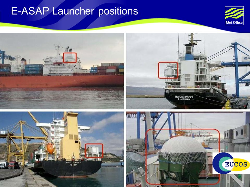 Page 31© Crown copyright 2004 E-ASAP Launcher positions