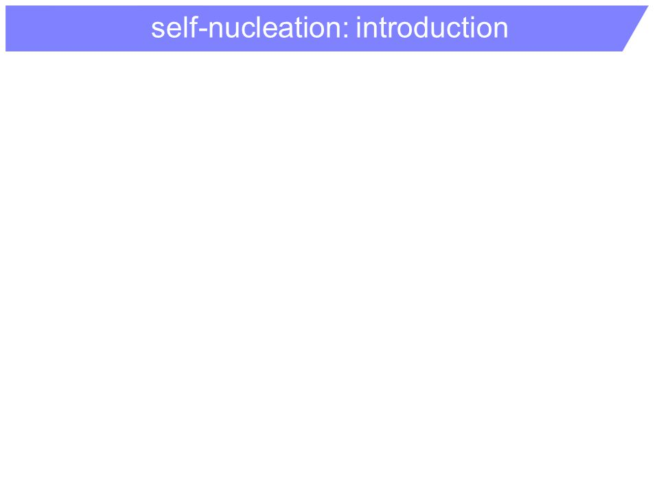 self-nucleation: introduction