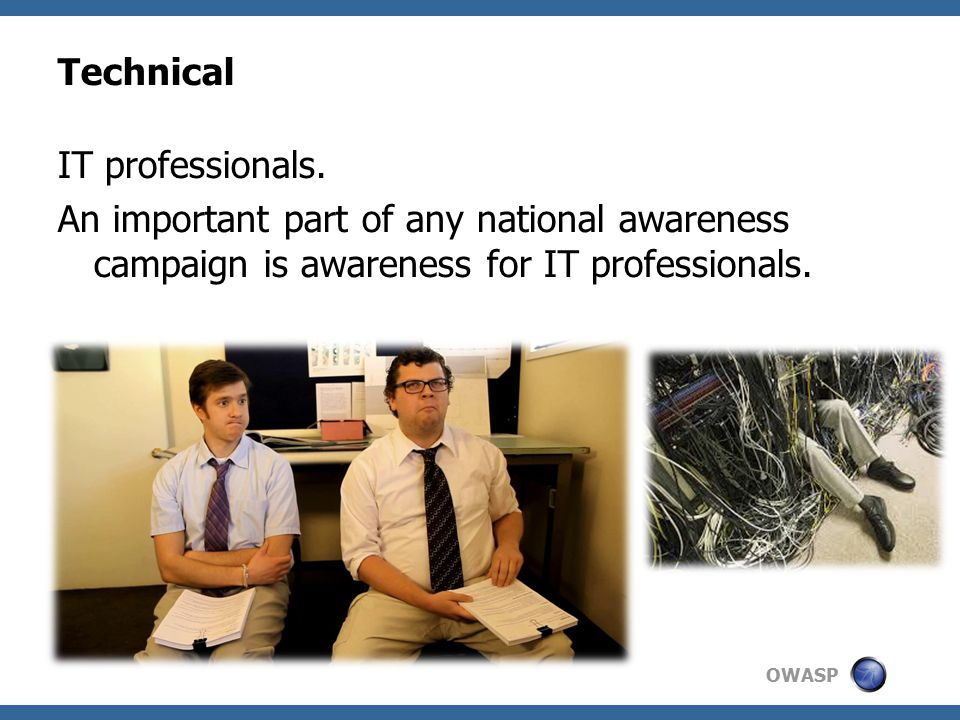 OWASP Technical IT professionals.