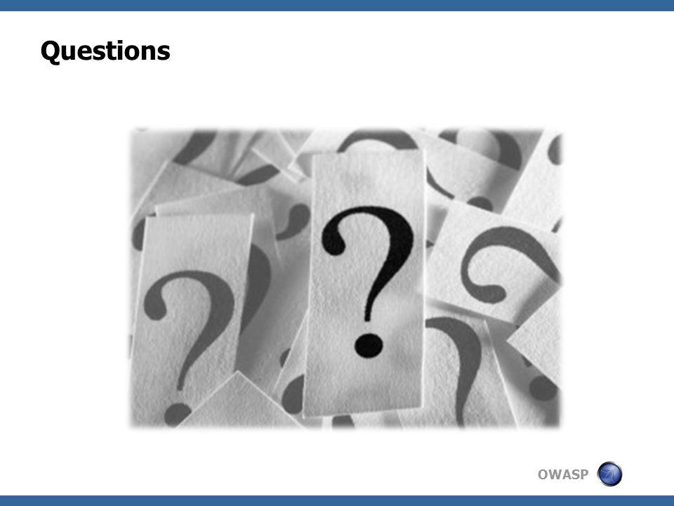 OWASP Questions