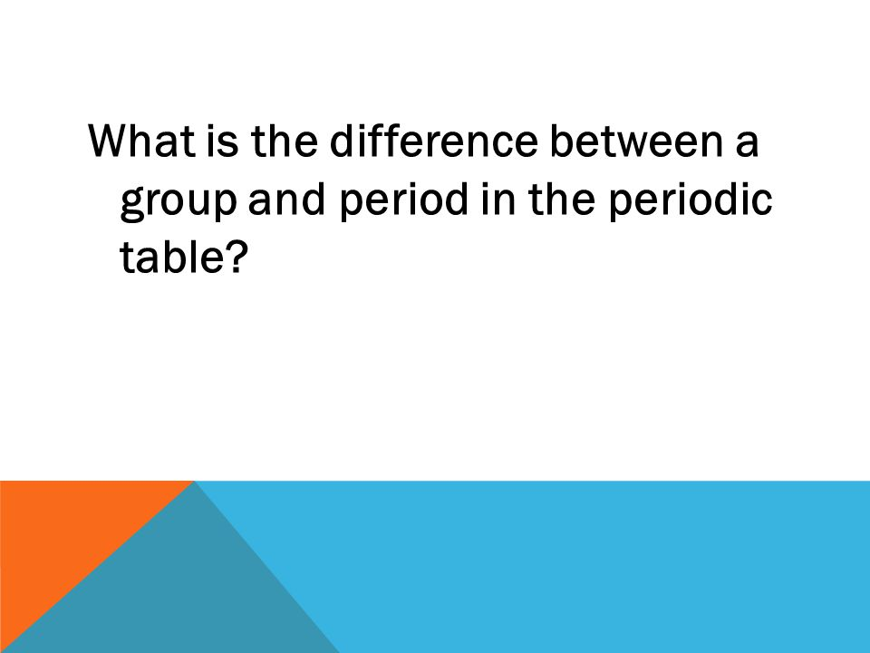 What is the difference between a group and period in the periodic table