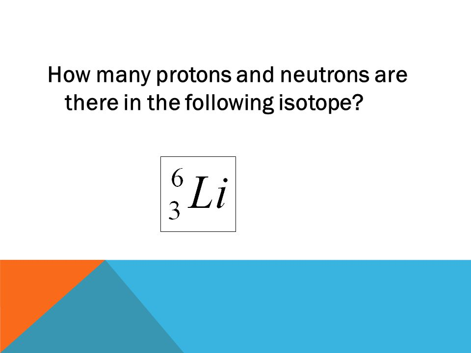 How many protons and neutrons are there in the following isotope
