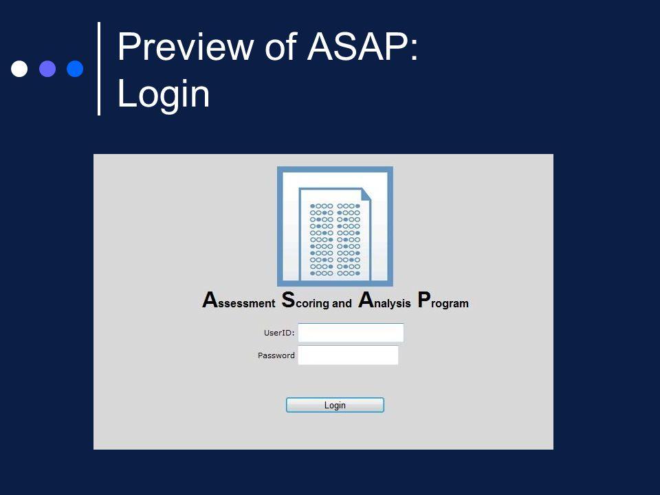 Preview of ASAP: Login