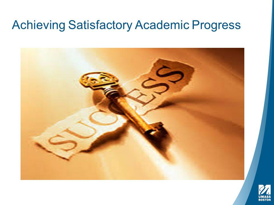 Achieving Satisfactory Academic Progress