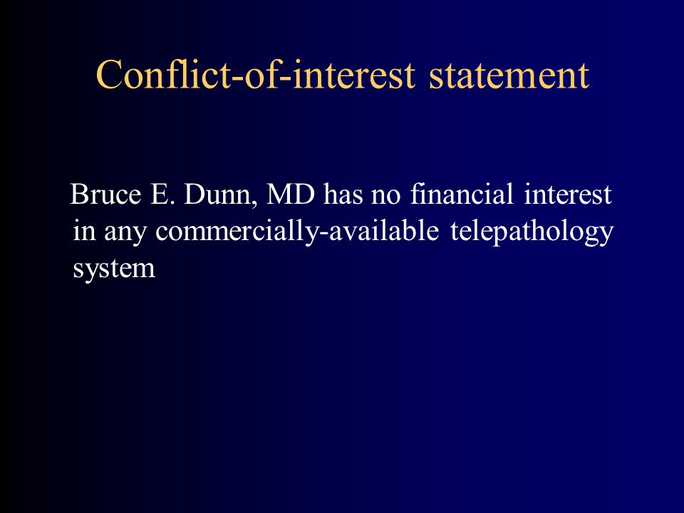 Conflict-of-interest statement Bruce E.