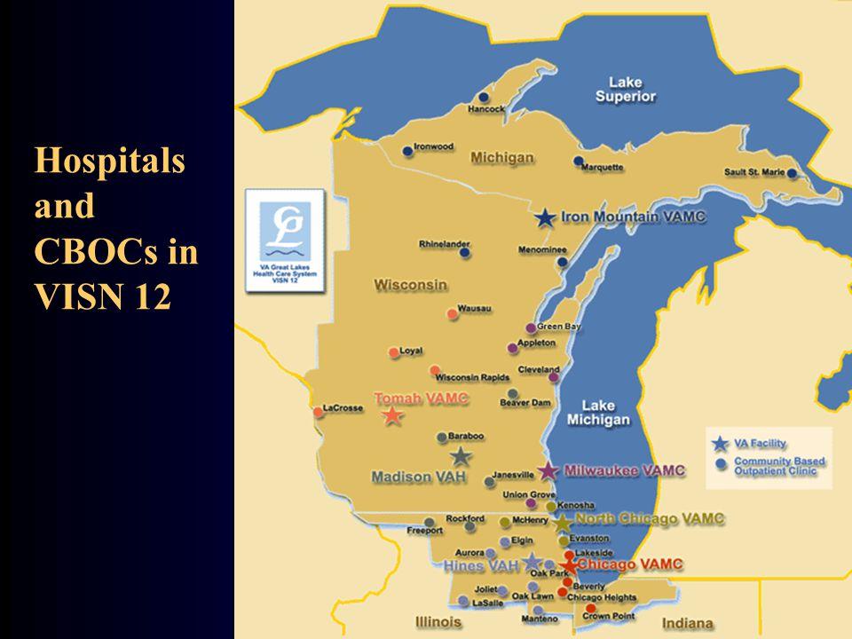 Hospitals and CBOCs in VISN 12