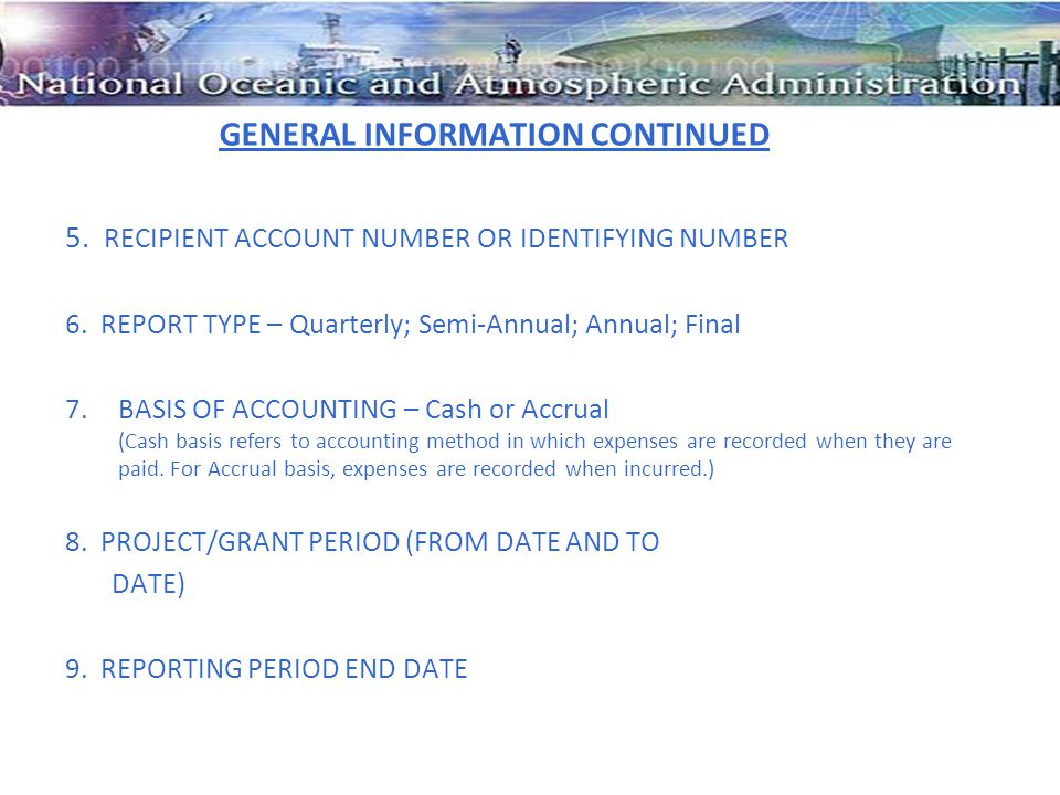 GENERAL INFORMATION CONTINUED 5.RECIPIENT ACCOUNT NUMBER OR IDENTIFYING NUMBER 6.