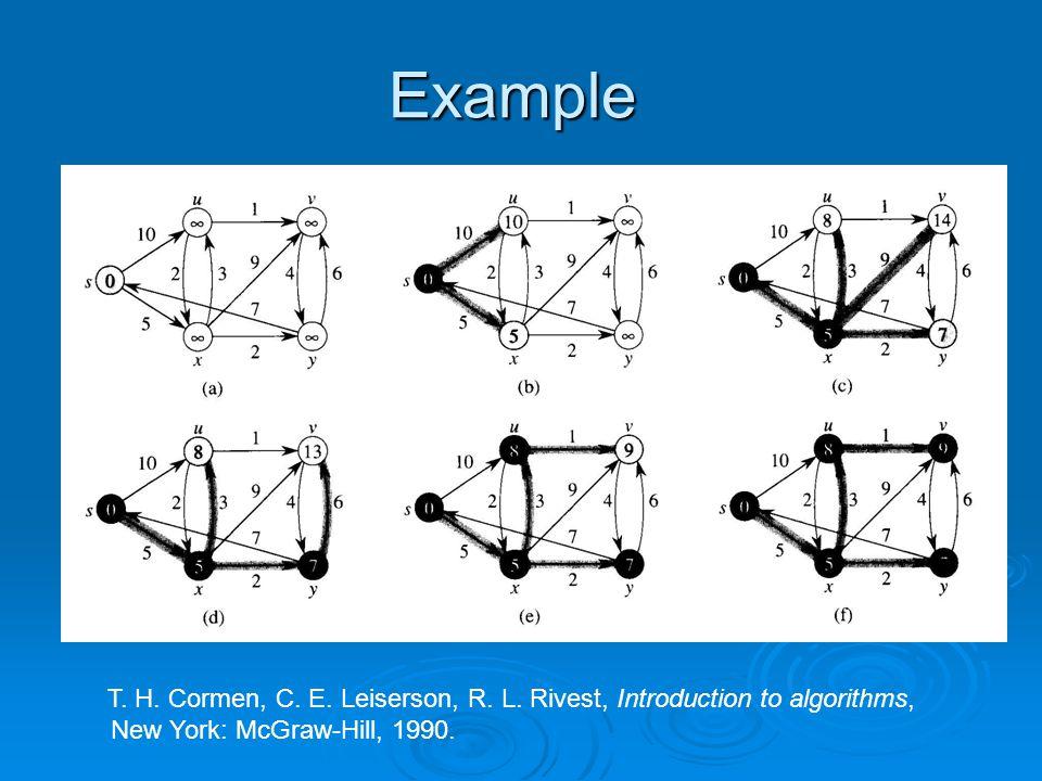 Example T. H. Cormen, C. E. Leiserson, R. L.