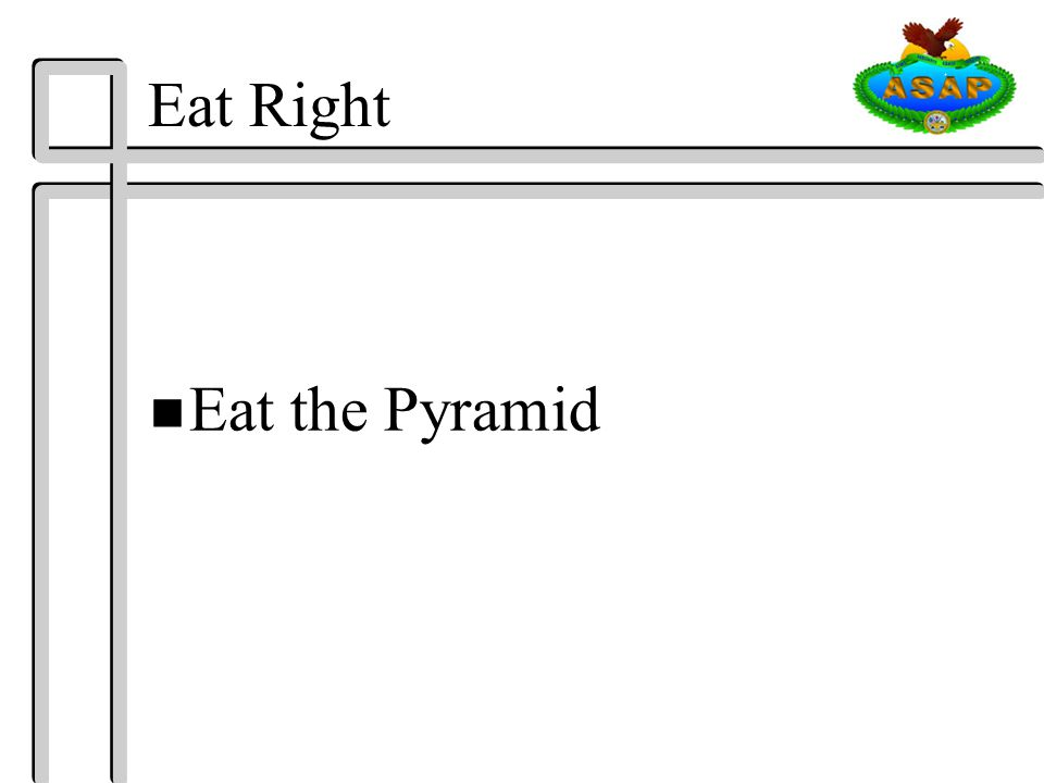 Eat Right n Eat the Pyramid