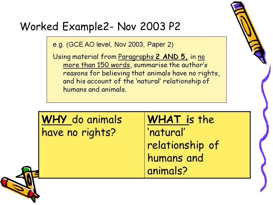 Worked Example 3- Nov 2004 P2 e.g.