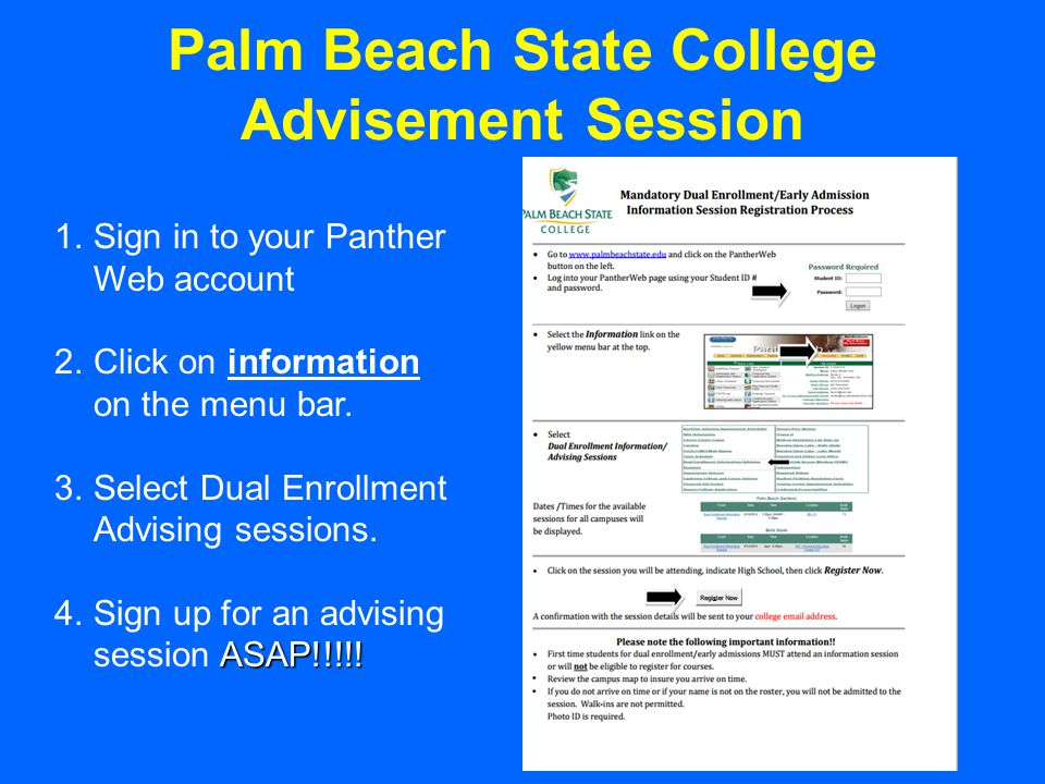 If you decide to withdraw from a dual enrollment class, you must do so during the Add/Drop Period.