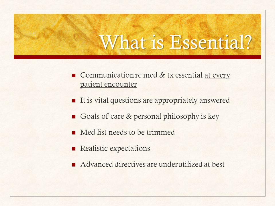 What is Essential.