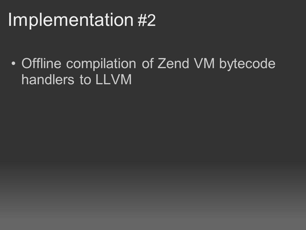 Offline compilation of Zend VM bytecode handlers to LLVM