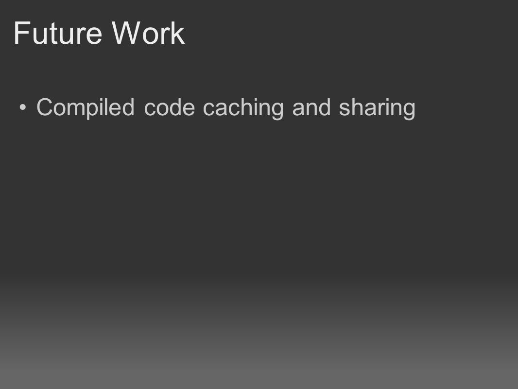 Compiled code caching and sharing