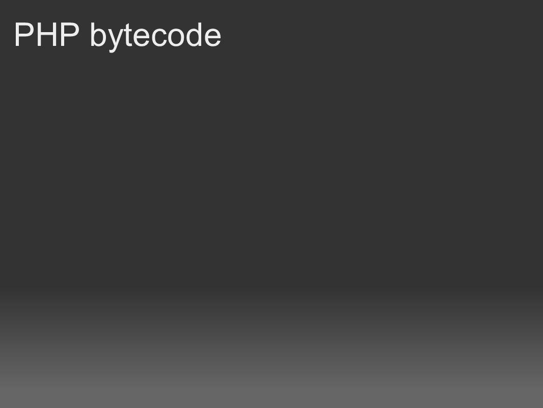 PHP bytecode