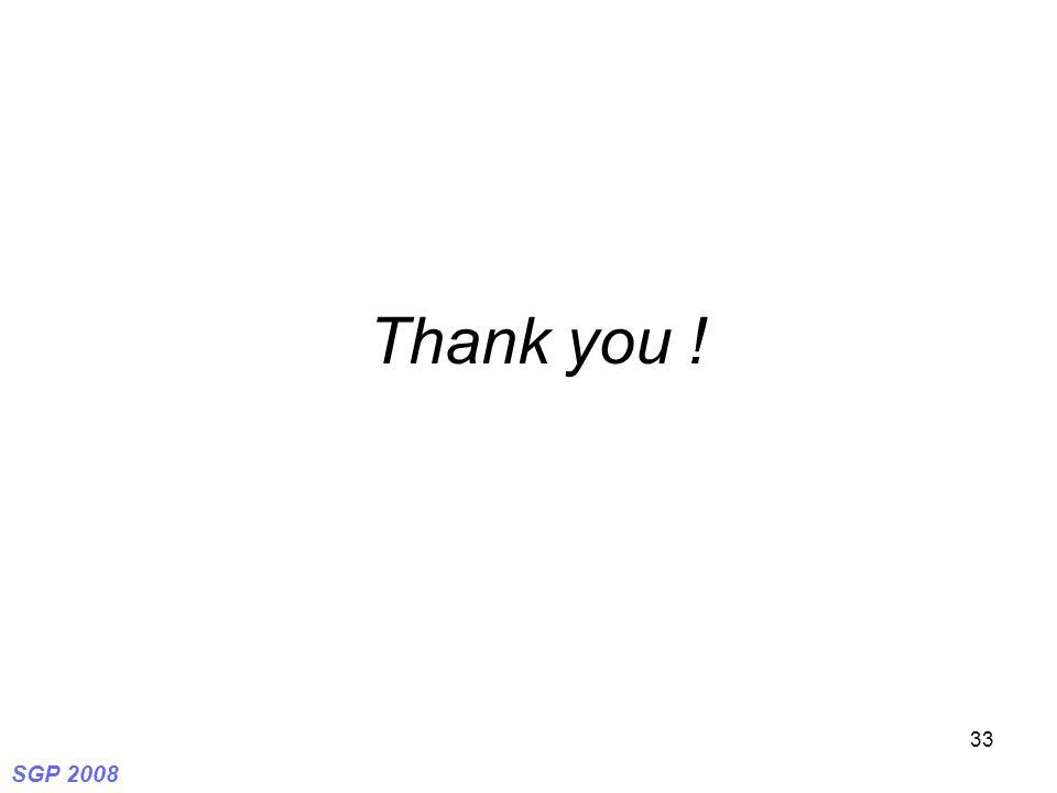 SGP 2008 33 Thank you !