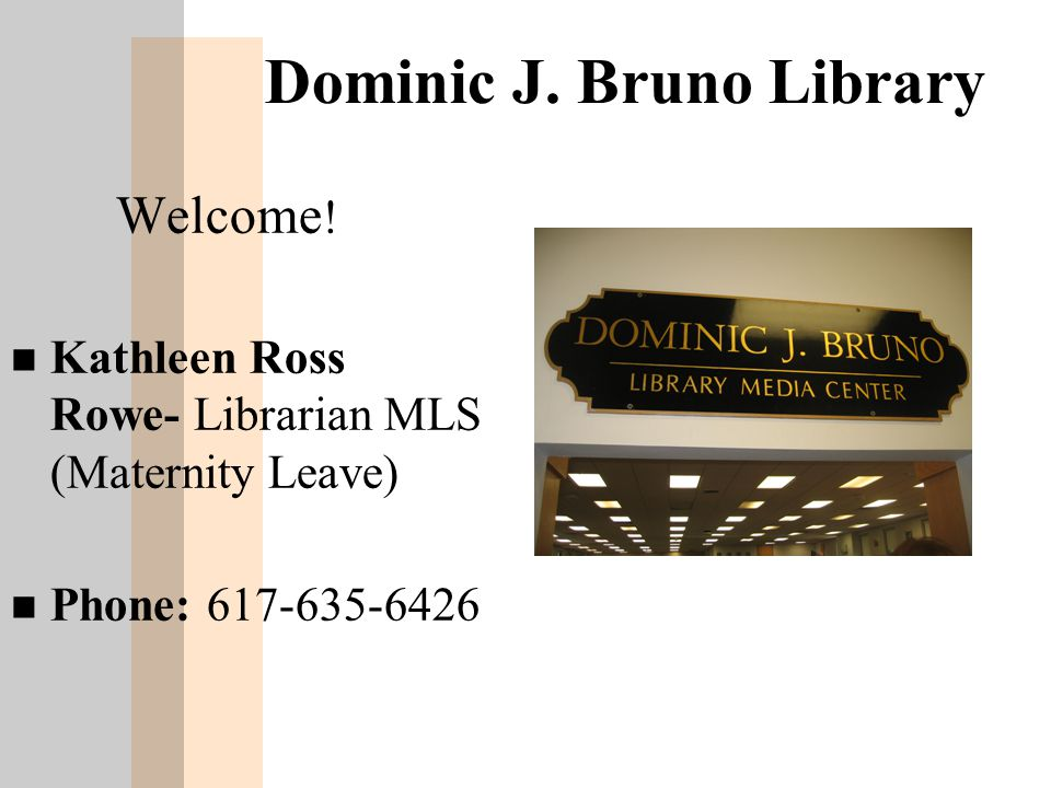Library Access: Individual Students n Teachers can send 2 students at a time on passes to get books or to research.