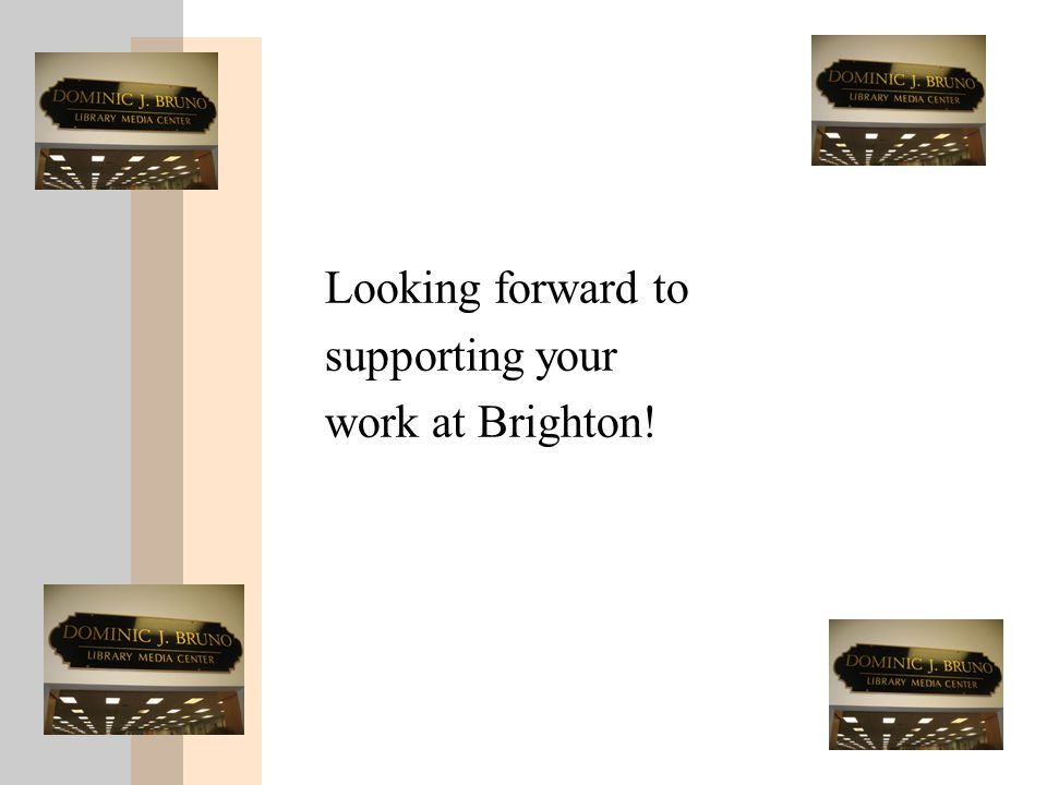 Looking forward to supporting your work at Brighton!