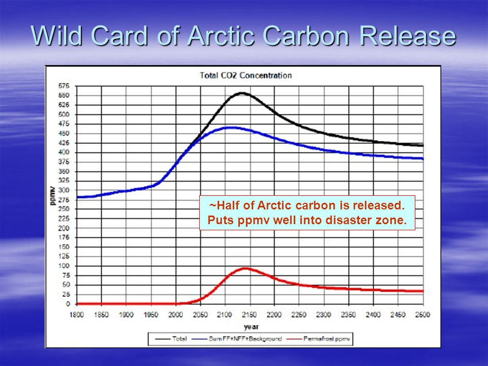 Wild Card of Arctic Carbon Release ~Half of Arctic carbon is released.