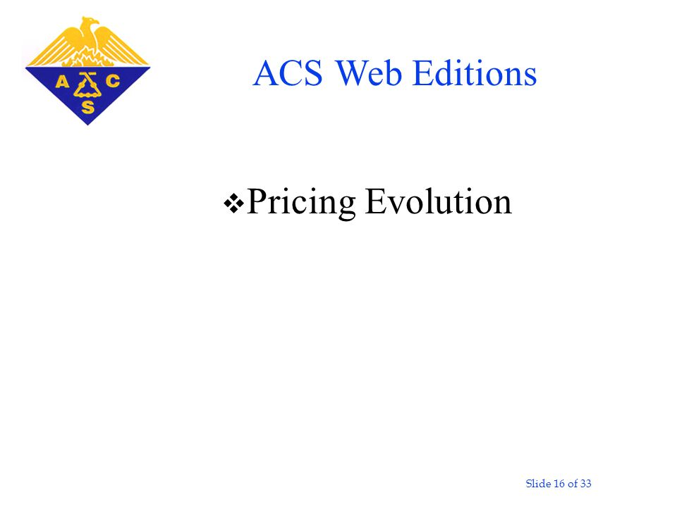Slide 16 of 33 v Pricing Evolution ACS Web Editions