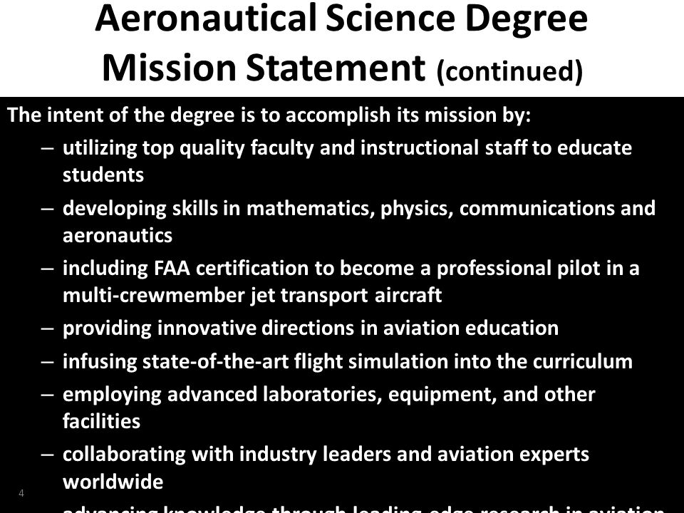 NTAS 2010, Daytona Beach, Florida Overview Accredited Education – AABI – SACS – FAA Part 142 5 Bachelor of Science Degree in Aeronautical Science Credits General Education............................
